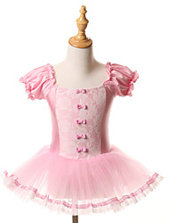 cheap -Ballet Dresses Tutus Tutus & Skirts Training Performance Spandex Tulle Bow(s) Short Sleeve Halloween Decorations Princess Dress