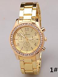 baratos -Mulheres Relógio de Pulso imitação de diamante Lega Banda Amuleto / Fashion / Relógio simulado de diamantes Prata / Dourada / Ouro Rose