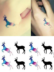 abordables -1pcs or 14pcs - Autres - Multicolore - Motif - 10.5*6*0.1cm - Tatouages Autocollants - Tattoo Stickers -Bébé / Homme / Femme / Adulte /