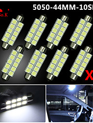 cheap -4X  White 44MM 5050 10SMD Festoon Dome Map Interior LED Light bulbs DE3423 6418 12V