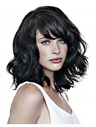 Fashion Lady Short Black Natural Color Curly Beautiful Wig