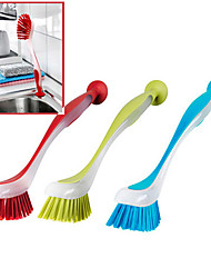 cheap -Plastis Sticks to Sinks Suction Cup Dish-washing Brush (Assorted Colours)