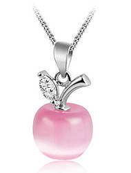 cheap -Women's Sterling Silver Pendant  -  Fashion White Pink Necklace For Wedding Party Daily