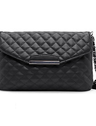 Women Quilted Shoulder Bag PU Leather Flap Front Crossbody Envelope Bag Clutch