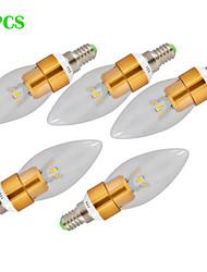 abordables -500 lm E14 Luces LED en Vela CA35 3 leds LED de Alta Potencia Decorativa Blanco Cálido Blanco Fresco AC 220-240V