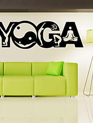 cheap -9500 Yoga Wall Stickers , Yoga Poses OM AUM WALL VINYL STICKER DECALS ART MURAL ,Yoga Wall Decor