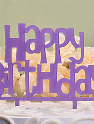 cheap -Cake Topper Classic Theme Monogram Hard plastic Birthday With OPP
