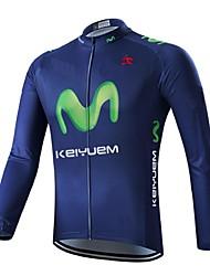 povoljno -KEIYUEM Žene Dugih rukava Biciklistička majica s tajicama - Crn Bicikl Biciklizam Hulahopke Kompleti odjeće, Vodootporno, Quick dry,