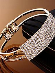 cheap -Women's Cuff / Chain Bracelet Gold / Silver / Alloy Rhinestone
