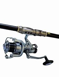 abordables -Caña de Superficie Metal Nailon Aluminio Acero Inoxidable / Hierro 3.6M cm Pesca de Mar Pesca a la mosca Pesca al spinning Pesca jigging