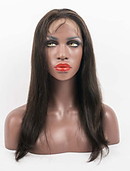 cheap -Unprocessed Full lace Wigs Long Silk Straight Human Hair Lace Wigs Celebrity Wigs 10''-26'' Lace Front Party Wigs