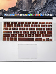 cheap -Wood Pattern design Silicone Keyboard Cover Skin for MacBook Air 13.3, MacBook Pro With Retina 13 15 17 US Layout