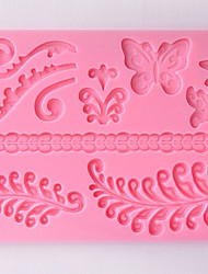DIY Silicone Flower Cake Mold Chocolate Mold Baking Mold(Random Color)
