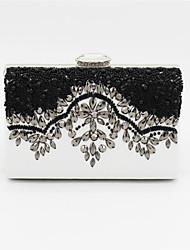 Damen Taschen PU Abendtasche Perlenstickerei für Hochzeit Veranstaltung / Fest Schwarz