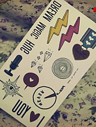 Недорогие -1 pcs Временные тату Временные татуировки Non Toxic Искусство тела Лицо / Корпус / руки