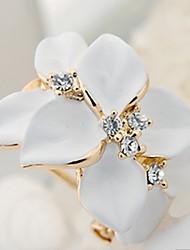 cheap -Women's Cubic Zirconia Stud Earrings / Earrings - Flower Vintage, Party, Work White / Black / Black-White-Beige For Daily
