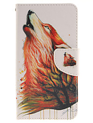 cheap -For LG Case Card Holder / Wallet / with Stand / Flip Case Full Body Case Animal Hard PU Leather LG