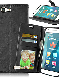 Full Body Wallet / Card Holder / with Stand Solid Color PU Leather Hard Case Cover For HuaweiHuawei P8 Lite / Huawei P7 / Huawei Y550 /
