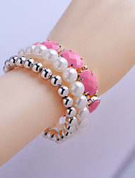 cheap -Korean  Pearl/Oval Resin/Beads Bracelet Suit