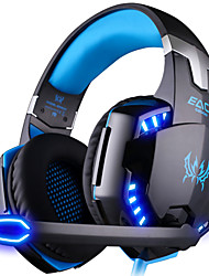 cheap -KOTION EACH G2000 Over Ear Headband Wired Headphones Plastic Gaming Earphone Noise-isolating with Microphone with Volume Control Luminous