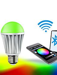 E26/E27 LED Smart Bulbs A60(A19) RGB 5050 5PCS,2835 10 PCS SMD 5050 Red:45-75LM,Green:100-150LM,Blue:20-50LM,Warmwhite:400-550LM lm RGB