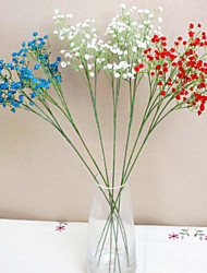 cheap -Silk Artificial Baby Breath Gypsophila Flower for Wedding Home Party Decor, White Blueness