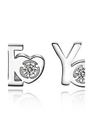 povoljno -Žene Sitne naušnice Plastika Zircon Jewelry Vjenčanje Party Dnevno Nakit odjeće