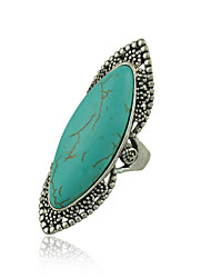 cheap -New Unique Design Vintage Silver Plated Turquoise Rings for Woman Jewelry
