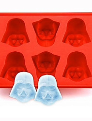 cheap -Silicone Darth Vader Ice Cube Tray Mold Cookies Chocolate Soap Baking Kitchen Tool Random Color