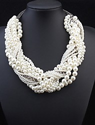 Women's Statement Necklaces Pearl Cross Pearl Alloy Statement Jewelry Luxury Jewelry For Wedding Party Special Occasion