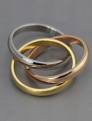 Široké prsteny Postříbřené Ocel Módní Barva obrazovky Šperky Párty 1ks