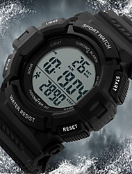 cheap -SKMEI® Men's Pedometer LCD Digital Rubber Band Sports Watch Cool Watch Unique Watch