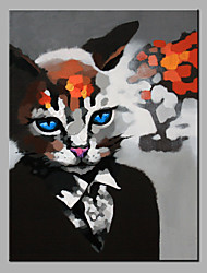 картина маслом современного абстрактного чистого ничья рука готовы повесить декоративную кота в масляной живописи костюм