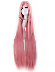 cheap -Synthetic Wig Straight Pink Women's Capless Carnival Wig Halloween Wig Very Long Synthetic Hair