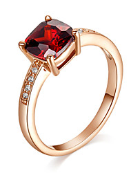 Ring Crystal / Imitation Ruby / Imitation Diamond Birthstones Jewelry Statement Rings