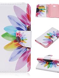 Für Nokia Hülle Geldbeutel / Kreditkartenfächer / mit Halterung Hülle Handyhülle für das ganze Handy Hülle Blume Hart PU - Leder Nokia Lumia 550