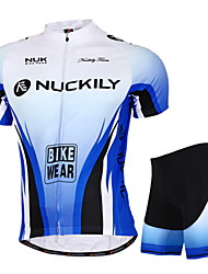 Nuckily Cycling Jersey with Shorts Unisex Short Sleeves Bike Jersey Shorts Clothing Suits Tops Waterproof Ultraviolet Resistant