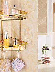 Недорогие -Гаджет для ванной / Полка для душа Карбонитрид титана Крепление на стену 28cm*18cm*38cm(11*7.1*14.96inch) Медь Современный