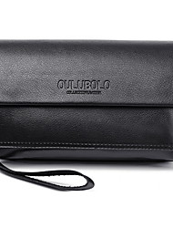 Men Bags All Seasons PU Wallet Wristlet for Shopping Casual Office & Career Black Brown