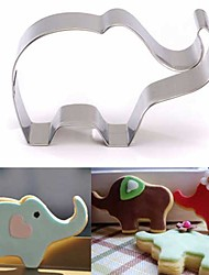 cheap -Elephant Animal Cookie Cutter Stainless Steel Cake Baking Biscuit Pastry Mould