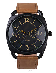 cheap -Business Style Brown Leather Belt Men's Watch Cool Watches Unique Watches