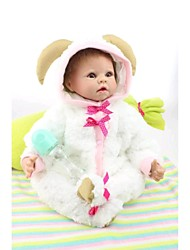 "cheap -22"" Reborn Baby Doll Toys Handmade Child Safe lifelike Non Toxic Newborn Silicone Vinyl Pieces"