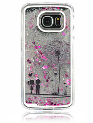 cheap -For Samsung Galaxy Case Flowing Liquid Case Back Cover Case Dandelion PC Samsung S6 edge / S6 / S5 / S4
