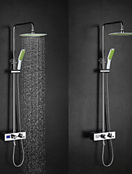 cheap -High Quality Brass Chrome 38  Thermostatic Smart Digital Display Water Flow Generate Electricity Shower Faucets