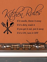 Creative English Words & Quote Kichen Rules Wall Decal Decorative  Removable PVC Wall Sticker