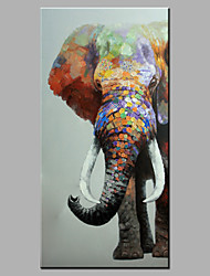cheap -Single Modern Abstract Pure Hand Draw Ready To Hang Decorative The  Elephant Oil Painting