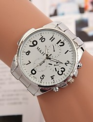 cheap -Men's Women's Fashion Watch Quartz Alloy Band Silver
