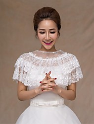 cheap -Sleeveless Lace Wedding Wedding  Wraps With Crystal / Lace Capelets