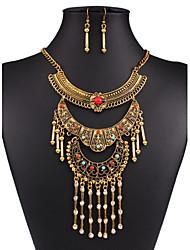 economico -Da donna Set di gioielli Personalizzato Lusso Vintage Da serata Di tendenza Feste Occasioni speciali Compleanno Resina Strass Argento