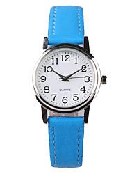 Women's Fashion Watch Water Resistant / Water Proof Quartz PU Band Blue